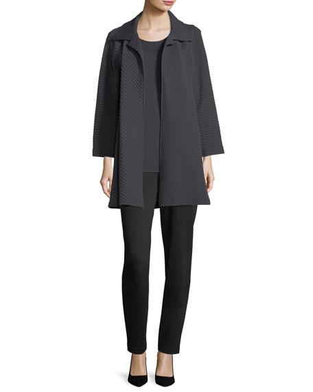 Wool-Knit Ottoman Topper Jacket, Plus Size