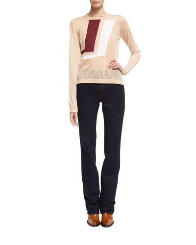 High-Rise Straight-Leg Jeans and Matching Items