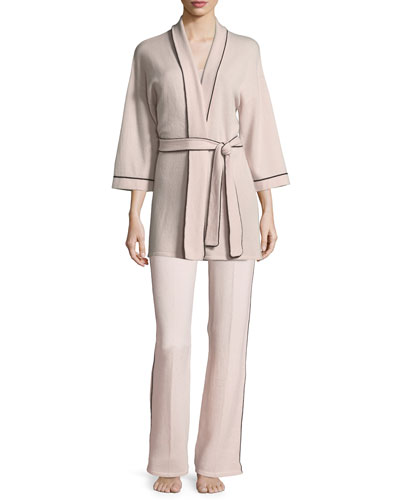 Cashmere Tipped Contrast-Trim Lounge Pants and Matching Items
