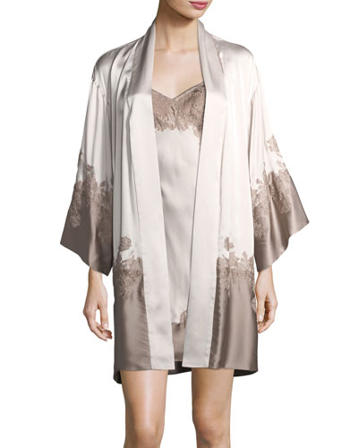 Lolita Lace-Trim Silk Robe and Matching Items
