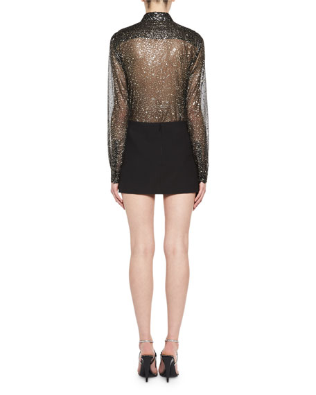 Pleated Fan Miniskirt