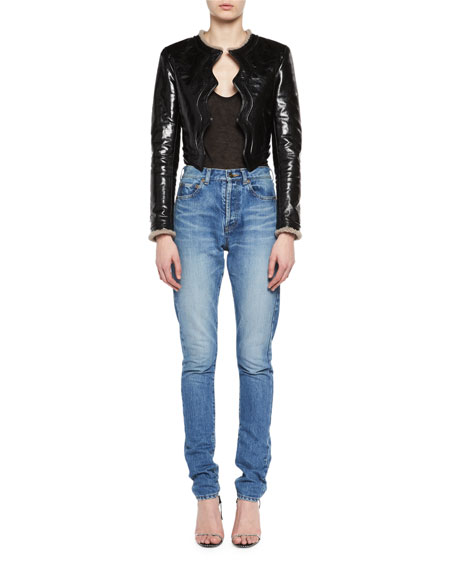 Mid-Rise Slim-Fit Shadow-Pocket Jeans