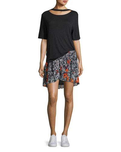 Lassla Slit-Neck Short-Sleeve Tee and Matching Items