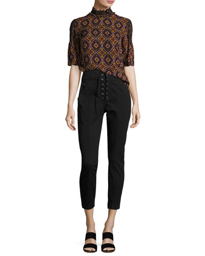 Kyle Lace-Up Ankle Pants  and Matching Items