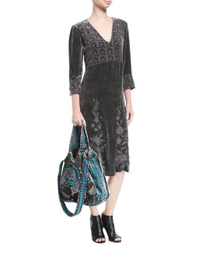 Parina Long Velvet Dress  and Matching Items