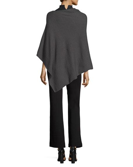 Ribbed Mock-Neck Sleeveless Sweater