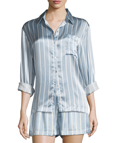 Striped Silk Pajama Top and Matching Items