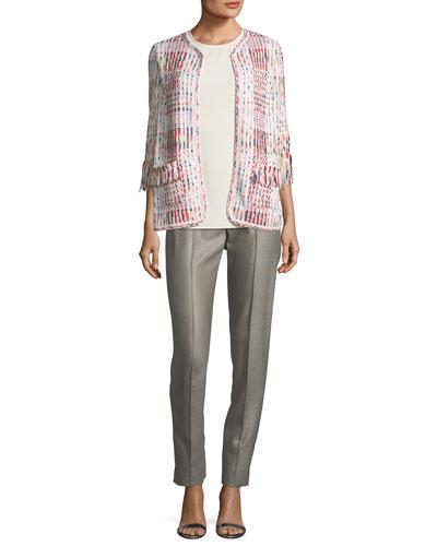 Soft Ribbon Macro Plaid Cardigan  and Matching Items