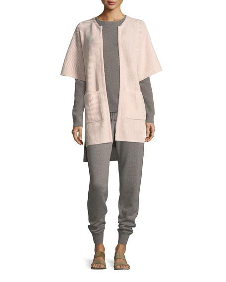 Cashmere Knit Cardigan w/ Patch Pockets