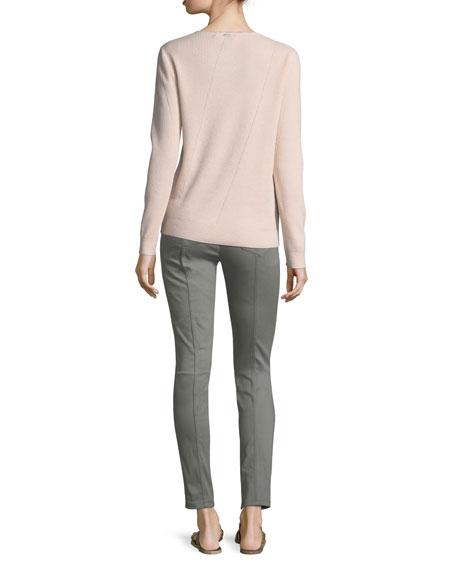 Cashmere Jewel-Neck Sweater