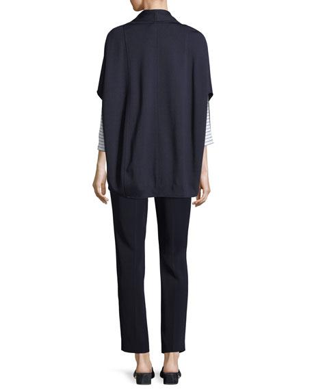 Circular Milano Knit Cape Jacket