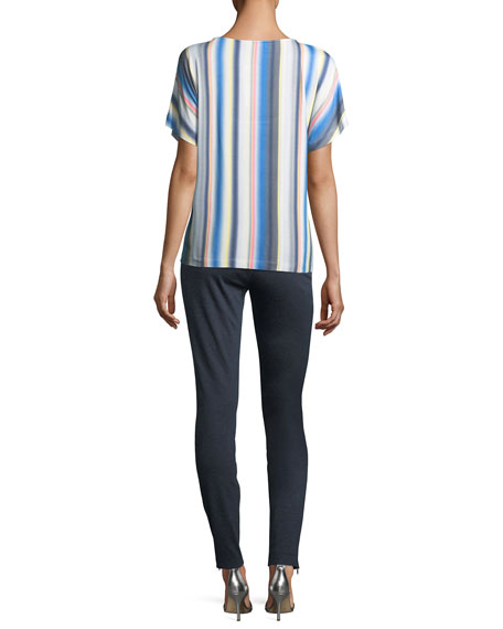 Blurred Multi-Stripe T-Shirt