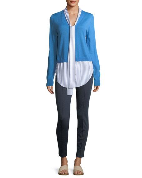 Jersey Knit V-Neck Cardigan
