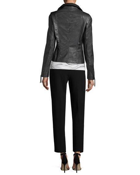 Luxe Napa Leather Moto Jacket