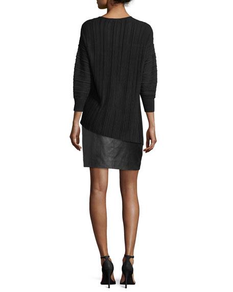 Plisse Knit Sweater