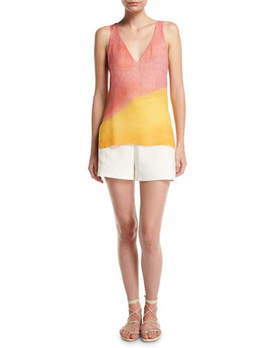 Watercolor Silk Twist-Back Tank and Matching Items