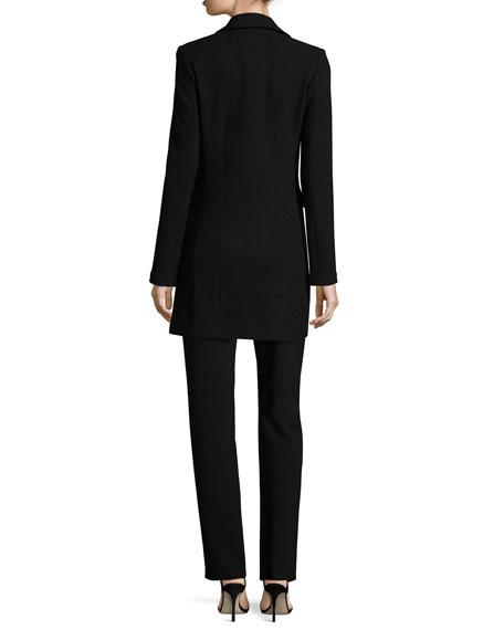 Micro Boucle Long Blazer, Black