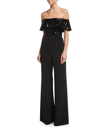 Tilden High-Waist Wide-Leg Side-Slit Crepe Pants and Matching Items