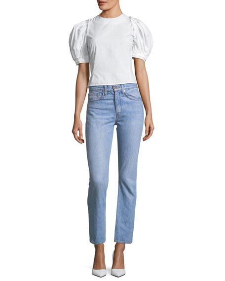 Belle Cropped Denim Jeans