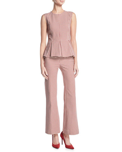 Pamela Gingham Wide-Leg Suiting Pants and Matching Items