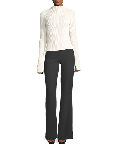 High-Waist Crepe Flare Pants and Matching Items