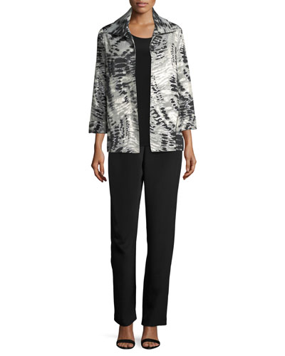 Abstract Animal-Print Jacket, Petite and Matching Items