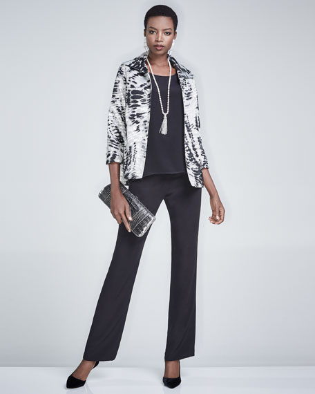 Abstract Animal-Print Jacket, Plus Size
