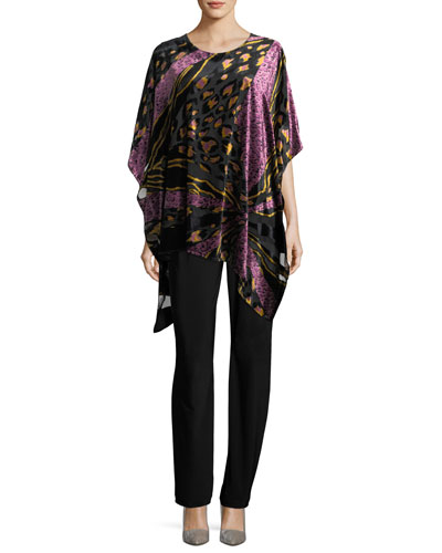 Party Animal Devore Velvet Caftan, Petite and Matching Items