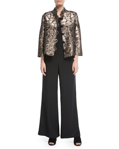 Mod Metallic Easy Mandarin Jacket, Plus Size and Matching Items