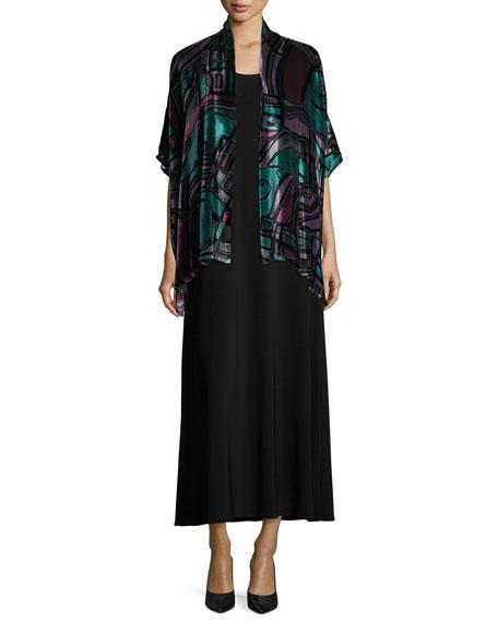 Sleeveless Knit Long Dress, Petite