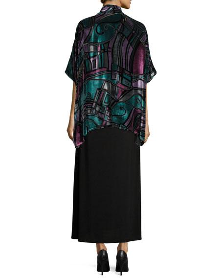 Sleeveless Knit Long Dress, Plus Size