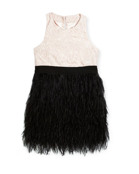 Lace Blaire Feather Dress, Size 4-7