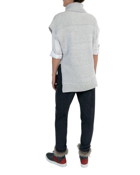 Stretch-Wool Drawstring Jogger Pants