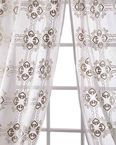 """Frazer Cotton Organdy Curtain, 108"""""""