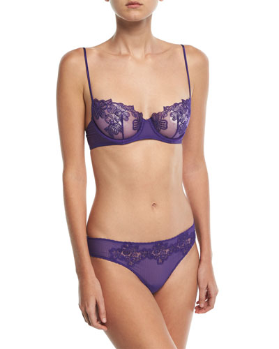 English Rose Lace Demi Bra and Matching Items