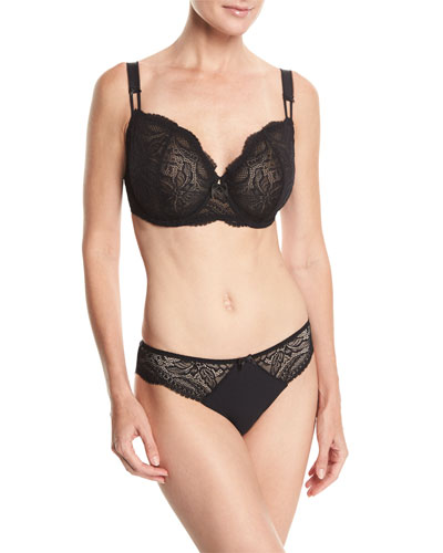 Eden Demi Cup Full-Figure Bra, Ivory and Matching Items