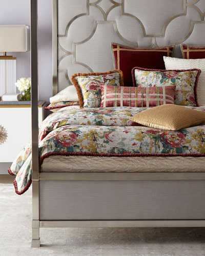 Anna Maria Floral King Sham  and Matching Items