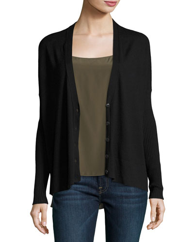 Modal-Blend V-Neck Button-Front Cardigan Sweater and Matching Items