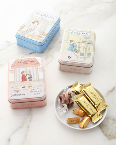 Gianduja Chocolates in Tin and Matching Items