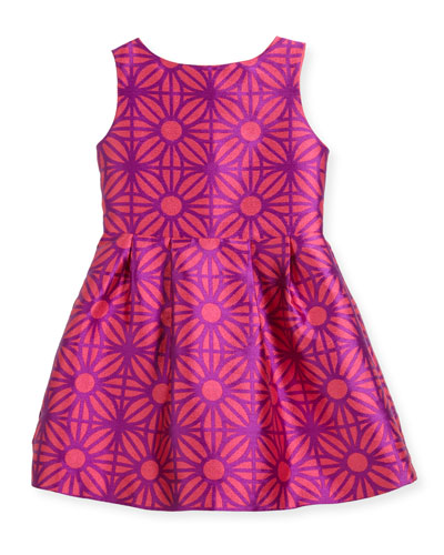 Sleeveless Daria Geo-Print Party Dress, Size 2-4 and Matching Items