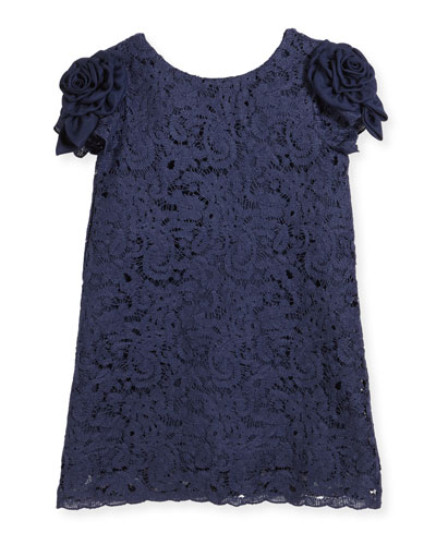 Daria Lace Dress w/ Rosette Sleeves, Size 5-8 and Matching Items