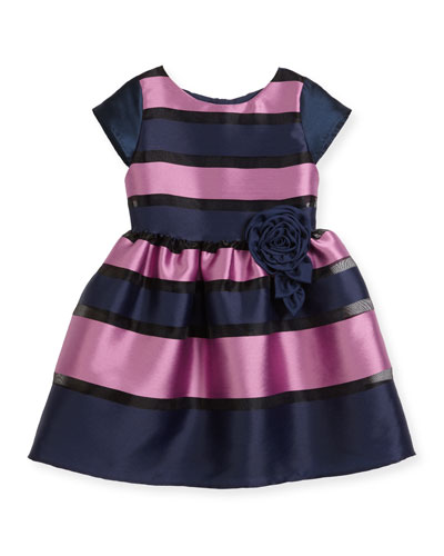 Daria Broad Striped Party Dress, Size 5-8 and Matching Items