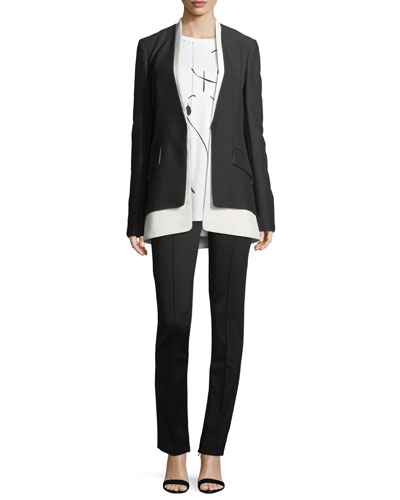 Layered Two-Tone Cady Blazer and Matching Items