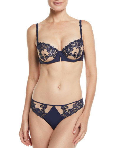 Saga Non-Padded Lace Demi Bra and Matching Items