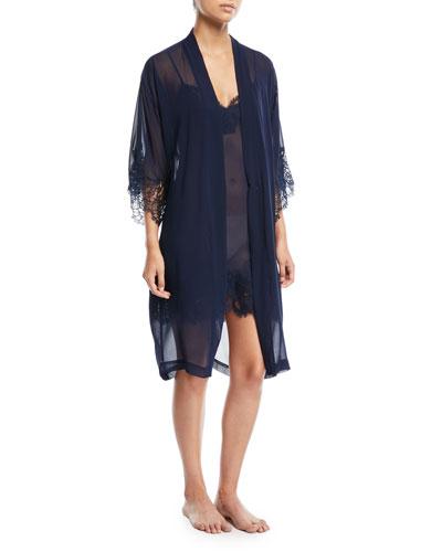 Soir de Venise Long-Sleeve Short Robe and Matching Items