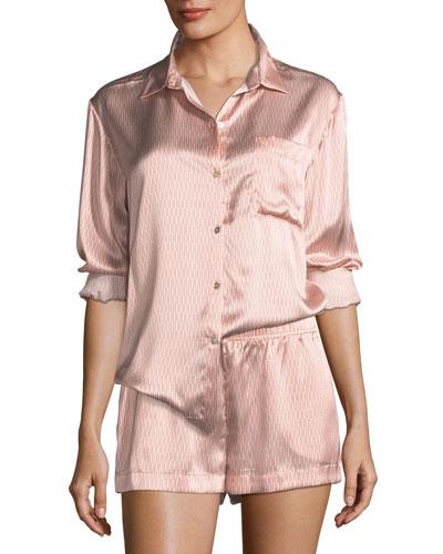 Rose Matchstick Silk Pajama Top and Matching Items