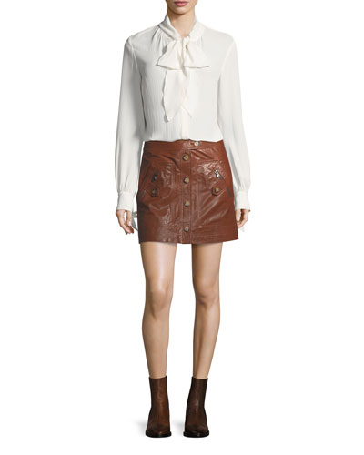 Monroe A-Line Cargo Leather Skirt and Matching Items