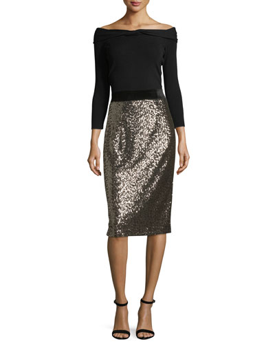 Sequined Midi Pencil Skirt and Matching Items
