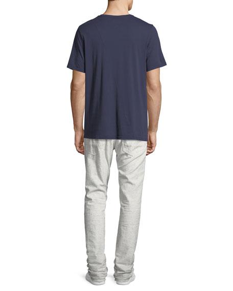 Demon Flecked & Distressed Slim-Straight Jeans