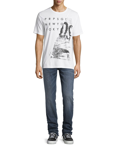 Shattered Collage Graphic T-Shirt